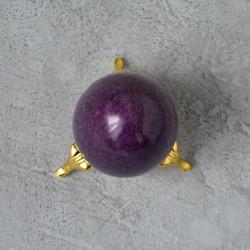 Яйцо 4,5*5,7см на подставке, камень сиреневый, арт. 5524