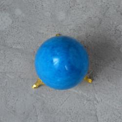 Яйцо 5*7см на подставке, камень голубой, арт. 5526
