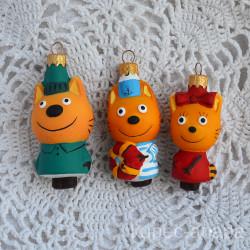 """Елочная игрушка """"Три кота"""" 5311/3 ID4491"""