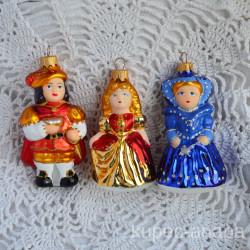 """Елочная игрушка """"Золушка, принц и Фея"""" 5260/3 ID4490"""