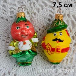 """Елочная игрушка """"Синьор Помидор и Лимон"""" 5311/2 ID4492"""