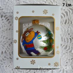 """Елочная игрушка шар в упаковке """"Символ года 2021"""" 7см, арт. 5313/у ID4474"""