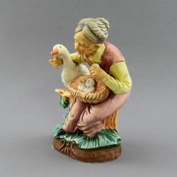"""Фигура """"Бабушка с гусем"""" 14*11*7,5см, арт. 3877"""