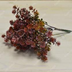 Цветок искусственный Куст каланхое зеленый 7 вет. h=27см, арт. 4899)