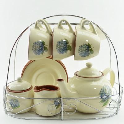 Чайный сервиз на подставке, 10пр., арт. 2029